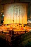 Den original- Kon-Tiki Raft i Kon-Tiki Museum i Oslo fotografering för bildbyråer