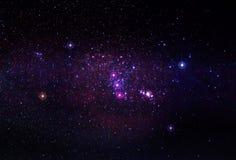 Den Orion konstellationen med nebulosan M42 Royaltyfria Bilder