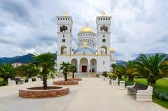 Den ortodoxa domkyrkakyrkan av St Jovan Vladimir, stång, Montenegro Royaltyfri Bild