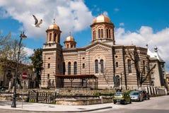 Den ortodoxa domkyrkan - domkyrka av helgon Peter och Paul i Constanta, Rumänien Arkivbild