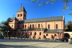 Den ortodoxa församlingkyrkan avmaskar in Arkivbilder