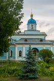 Den ortodoxa kloster av Vvedenskaya Optina Pustyn i den Kaluga regionen av Ryssland Fotografering för Bildbyråer