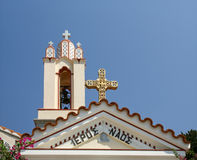 Den ortodoxa kyrkan av St. Panteleimon, Rhodes, Grekland Arkivbild