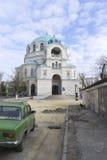 Den ortodoxa kyrkan i Krim arkivfoto