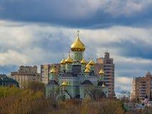 Den ortodoxa kyrkan i Ukraina Pokrovsky kloster i Kyiv Kiev-Pokrovsky kloster, kloster av interventionen av Royaltyfri Fotografi