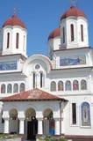 Den ortodoxa kyrkan med St George mosaiker Arkivbilder