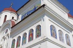 Den ortodoxa kyrkan med St George mosaiker Royaltyfri Fotografi