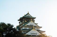 Den Osaka slotten parkerar Fotografering för Bildbyråer