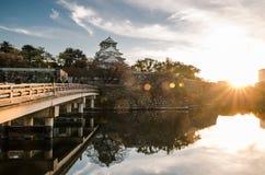 Den Osaka slotten parkerar Arkivbilder