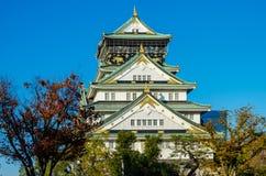 Den Osaka slotten parkerar Arkivbild