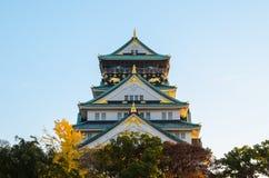 Den Osaka slotten parkerar Royaltyfri Foto