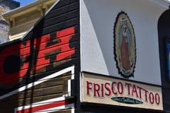 Den Osaoe grändväggmålningen arbetar San Francisco, 18 Arkivbilder