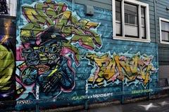 Den Osaoe grändväggmålningen arbetar San Francisco, 13 Fotografering för Bildbyråer