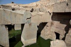 Den Osirion templet på Abydos, Egypten Royaltyfria Bilder