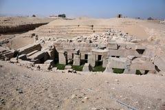 Den Osirion templet på Abydos, Egypten Fotografering för Bildbyråer