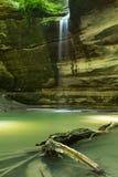 Den Ottawa kanjonen som svältas vaggar delstatsparken, Illinois Arkivfoto