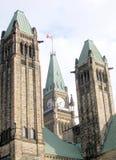 Den Ottawa parlamentet står högt 2008 Arkivbild