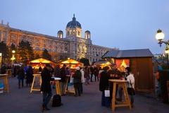 den Österrike julen market vienna Royaltyfri Bild