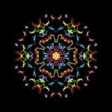 Den overkliga spektral- symmetrin, önskar en digital bild royaltyfri illustrationer