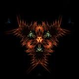 Den overkliga spektral- symmetrin, önskar en digital bild vektor illustrationer