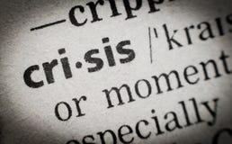 Uttrycka krisen, ordlistan, makro royaltyfria foton
