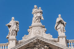 Den påvliga basilikan av helgonet Mary Major i Rome, Italien. Royaltyfria Foton