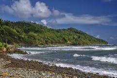Den Pagua fjärden på Dominica Arkivbilder