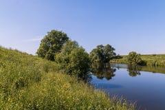 Den Pakhra floden royaltyfri fotografi