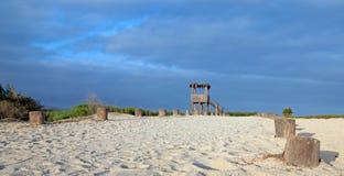 Den Palapa visningen förlägga i barack - den San Jose Del Cabo Estuary/lagunnorden av Cabo San Lucas Baja Mexico royaltyfri fotografi