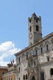 Den Palazzo deien Capitani del Popolo - Ascoli Piceno, Italien Royaltyfri Foto