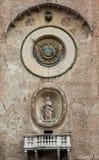 Den Palazzo dellaen Ragione med för Orologio för Torre dell` `en för torn för klocka `, Mantua Royaltyfri Foto