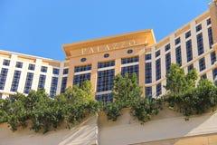Den Palazzo det lyxiga hotellet och kasinot tillgriper i Las Arkivfoto