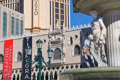 Den Palazzo det lyxiga hotellet och kasinot tillgriper i Las Vegas Arkivfoton