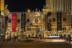 Den Palazzo det lyxiga hotellet och kasinot tillgriper i Las Vegas Fotografering för Bildbyråer
