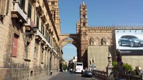 Den Palermo domkyrkan, Palermo, Sicilien, Italien royaltyfria bilder