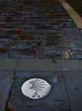 Den Pamplona vägen av St James undertecknar in vägen Fotografering för Bildbyråer