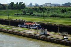 Den Panama kanalen, Miraflores låser område Royaltyfri Bild