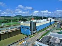 Den Panama kanalen arkivbilder