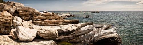 Den panorama- kusten beskådar Royaltyfri Bild