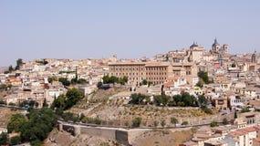 Den panorama- sikten av Toledo i Spanien Royaltyfri Foto