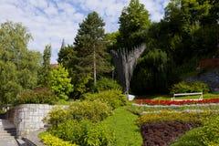 Den Panorma sikten på Europa parkerar i Kamnik Fotografering för Bildbyråer