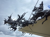 Den Pantano de Vargas monumentet arkivbild