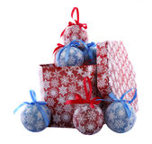 Den pappers- julen klumpa ihop sig Arkivfoton