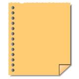 Den pappers- tomma sidan noterar Royaltyfria Foton