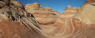 Den Paria kanjonen, cinnoberfärgklippor, Arizona Arkivbild