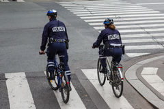 Den parisiska polisen Royaltyfri Foto