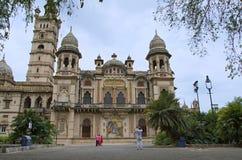 Den partiska sikten av Lakshmi Vilas Palace, byggdes av Maharaja Sayajirao Gaekwad 3rd i 1890, Vadodara Baroda, Gujarat Royaltyfri Foto