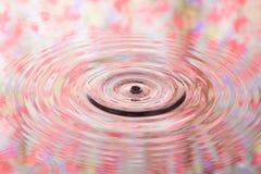 Den pastellfärgade blommamodellen av vattenreflexionen och vatten tappar Fotografering för Bildbyråer