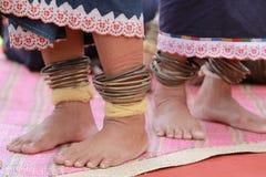 Den patern Linangkiten: Broderi av Dusunen Lotud Stycken av cl Fotografering för Bildbyråer