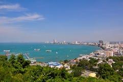 Den Pattaya fjärden beskådar Royaltyfria Bilder